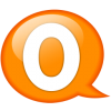 Speech balloon orange o
