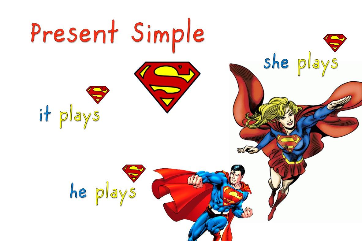 s - present simple