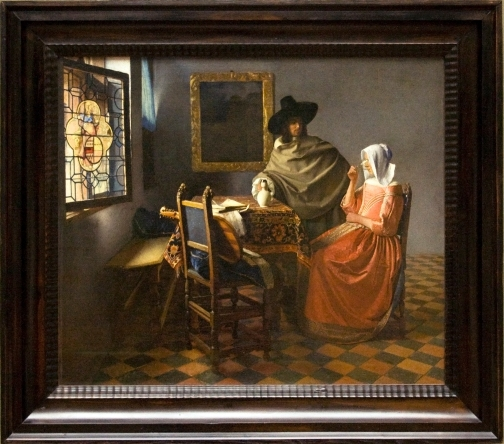 The_Wine_Glass,_painting_by_Vermeer,_with_frame